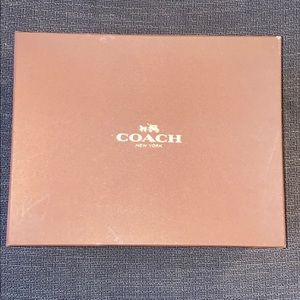 Coach leather tan sneakers 👟